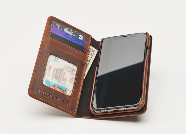 Protect Your iPhone 11 With This Amazing Men's Leather Phone Folio Wallet