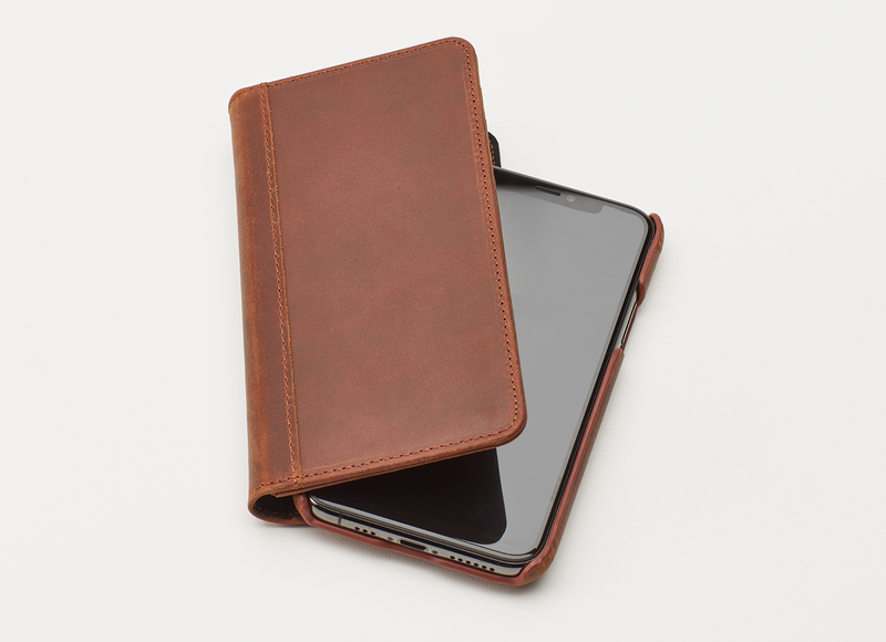 The Veteran Men's Leather iPhone Wallet