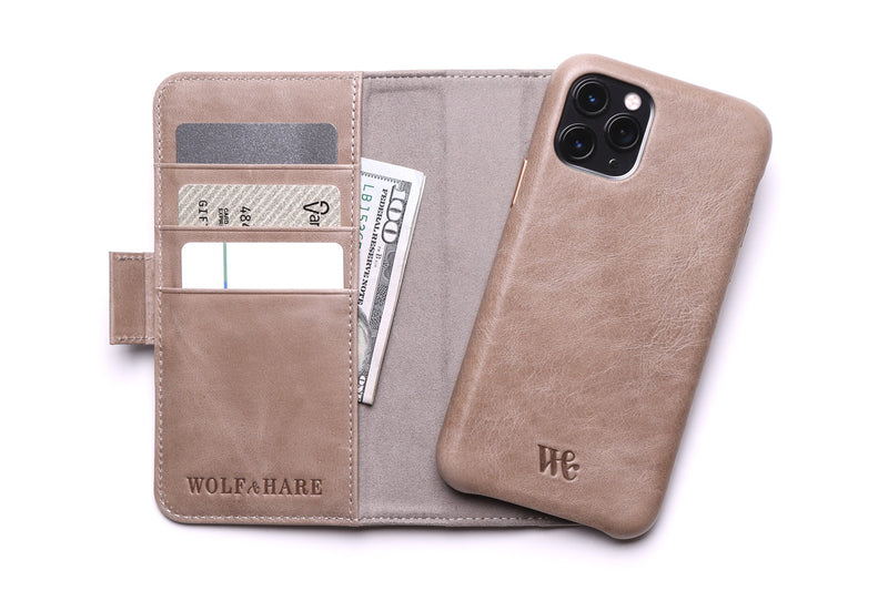 The Westsider - Women's Leather Magnetic Detachable iPhone Cardholder Wallet for iPhone 11, X / XS, Pro and Pro Max