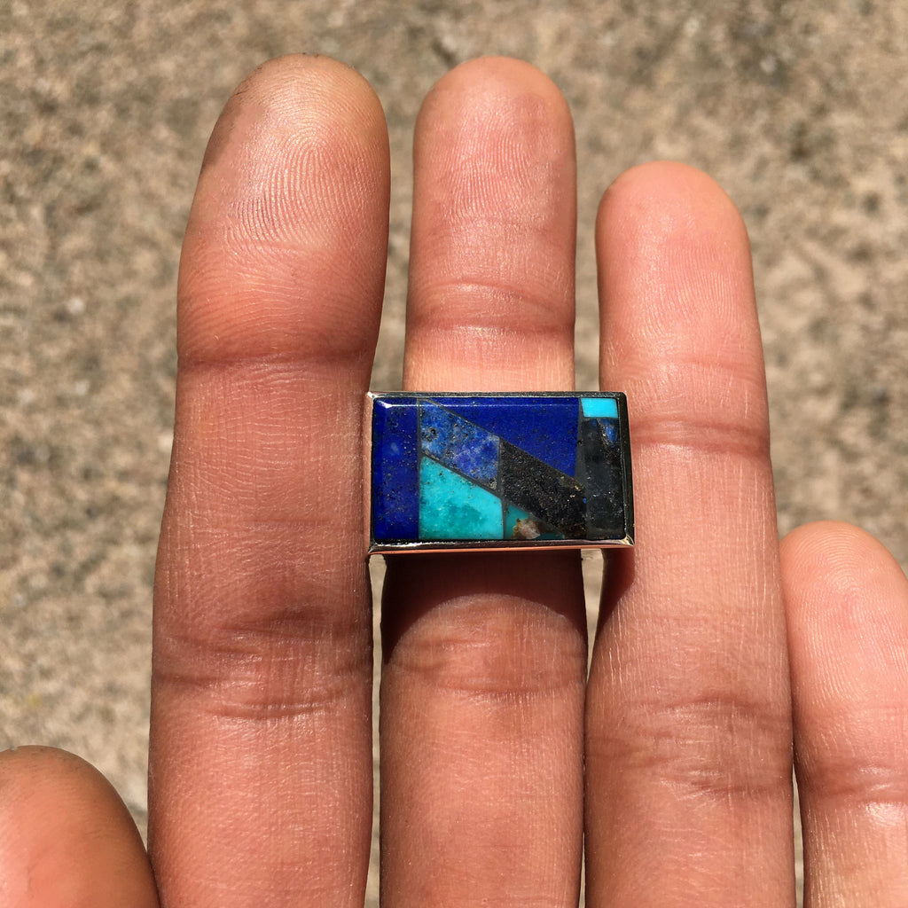 Blue Pixel Ring