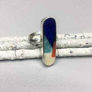 Color Block Modernist Ring