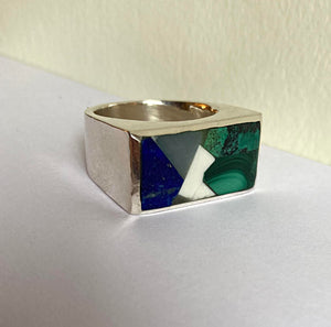Box Ring - Cypress Sterling silver