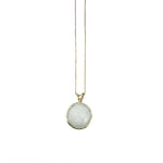 White Quartz Crystal Necklace - 14k Gold