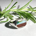 Vintage Style Inlay Ring - Size 9.75
