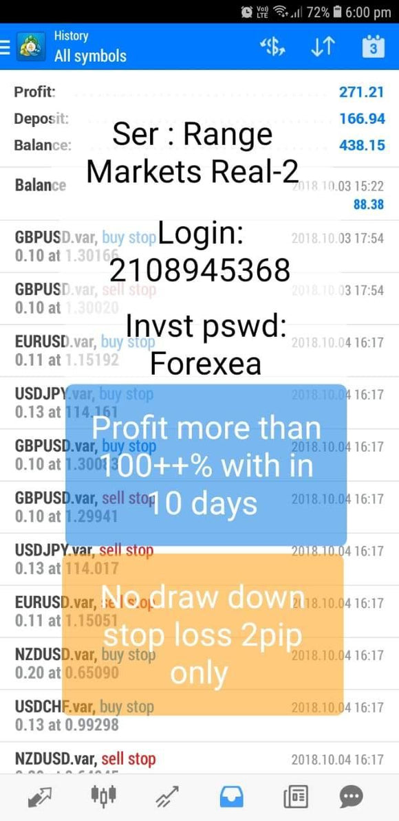 BSS SCALPIAN PENDING++ Real Account 140%+ Profit in 10 Days