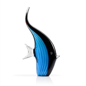 SPI Home- San Pacific Intl 76084 Art Glass Blue Angelfish