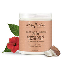 Load image into Gallery viewer, Sheamoisture Curl Enhancing Smoothie for Thick, Curly Hair Coconut and Hibiscus Sulfate Free and Paraben Free 20 oz