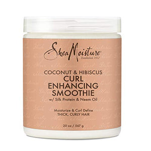 Sheamoisture Curl Enhancing Smoothie for Thick, Curly Hair Coconut and Hibiscus Sulfate Free and Paraben Free 20 oz