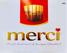 Load image into Gallery viewer, Merci Finest Assortment of European Chocolates. 675grams / 23.8 ounce Value pack. 54 pieces of individually wrapped Fine European Chocolates.
