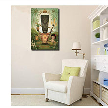 Load image into Gallery viewer, Tiki God Childish Strange Dark World Wall Art Canvas 50 x 75cm