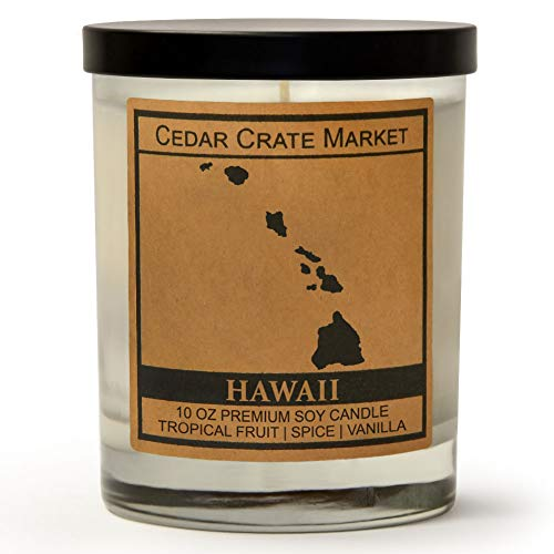 Tropical Fruit, Spice, Vanilla, 10 Oz. Glass Jar Candle