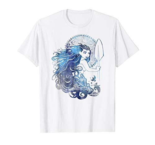 Girls Disney Moana Island Princess Sea Ocean Hair Graphic T-Shirt
