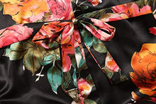 Load image into Gallery viewer, Long Floral Satin Kimono