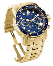 Load image into Gallery viewer, Men's Pro Diver Collection Chronograph 18k Gold-Plated Watch with Link Bracelet