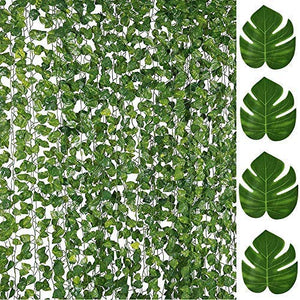 84FT Artificial Vines with Leaves  Ivy Foliage Flowers