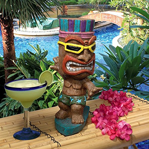 Big Kahuna Tiki Surfer Dude Statue
