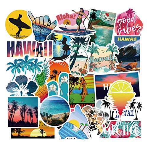 50 Pcs Hawaii Decals