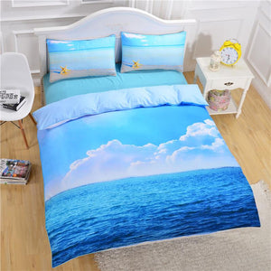 Starfish And Ocean Bedding Set Duvet Cover Set