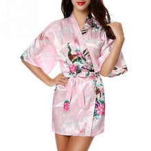 Load image into Gallery viewer, Satin Robes Kimono for Brides