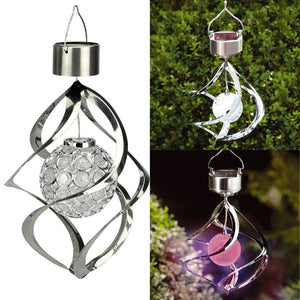 Solar Powered Colour Changing Saturn Wind Spinner Light Hanging Garden Outdoor A