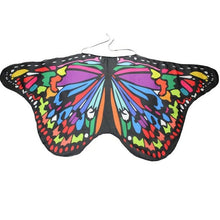 Load image into Gallery viewer, Girls Dress Up Butterfly Shape Fairy Wings Pretend Play Kids Wedding Party Fancy Chiffon Shawl Beautiful Accessory Costume