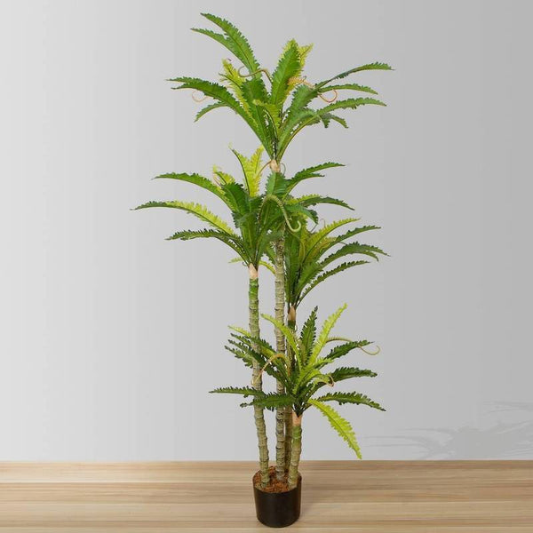Decorate your Home Office like a Jungle with Faux Fern