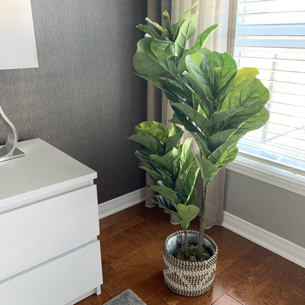 How to pick your 1st faux fiddle leaf fig tree online? | Artiplanto
