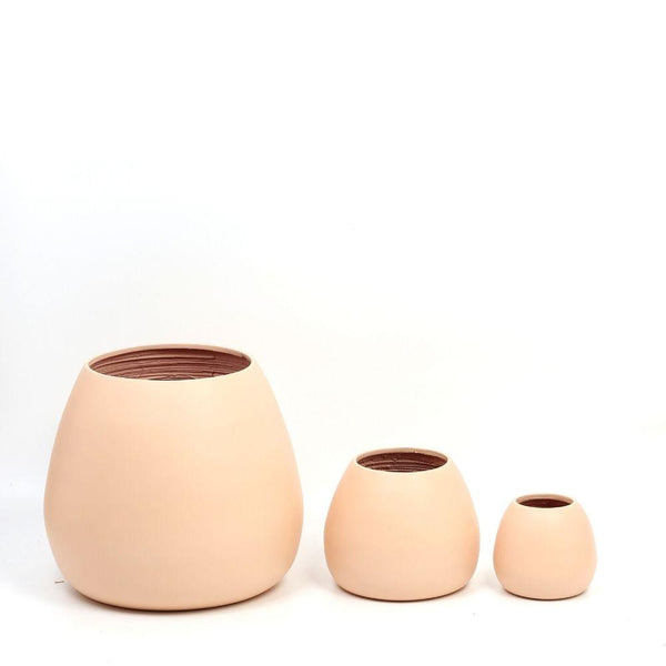 MARGO - PEACH BAMBOO FLOOR PLANTER