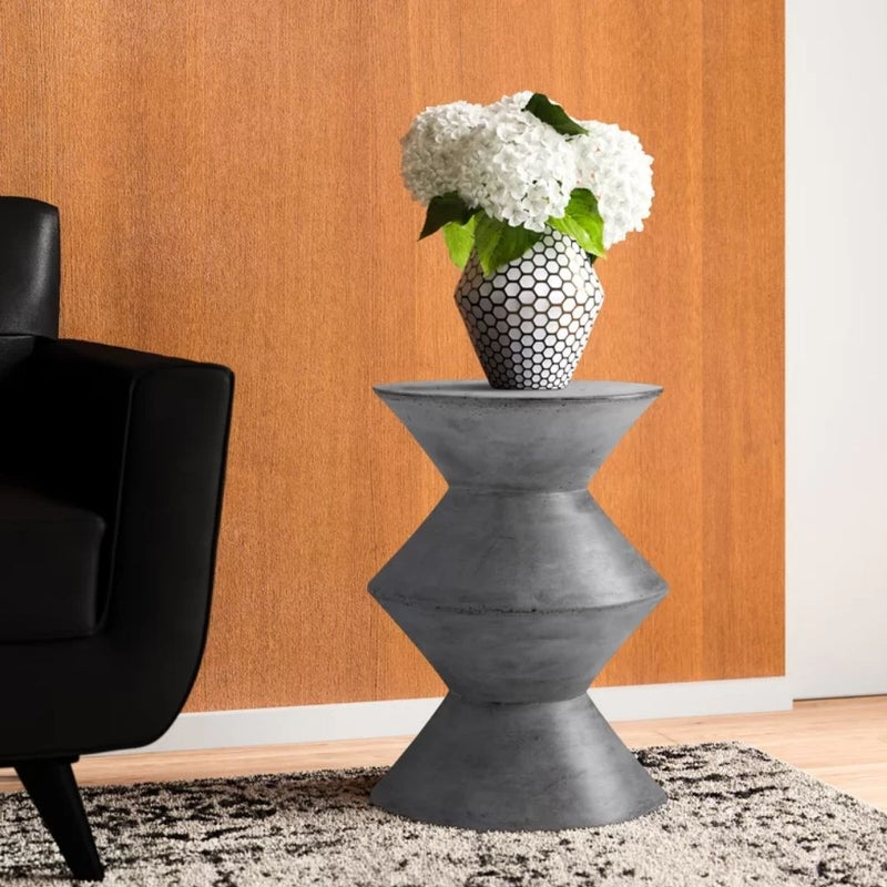 HILA WHITE PLANTER WITH HAIRPIN LEGS (91CM)
