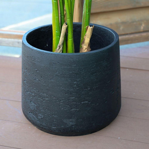 ANTO BLACK CEMENT PLANTER 13''