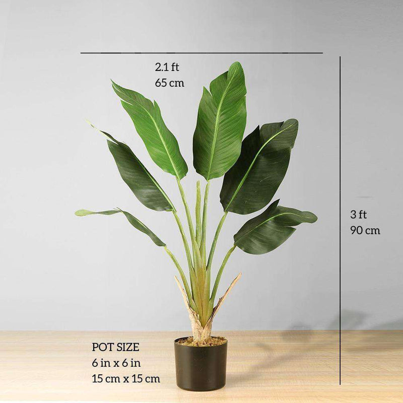 LOLA Artificial Bird Of Paradise Potted Plant 3' Potted Artificial Plant ArtiPlanto
