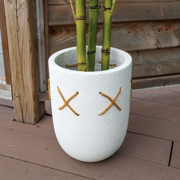COCO SANDY CEMENT PLANTER 9''