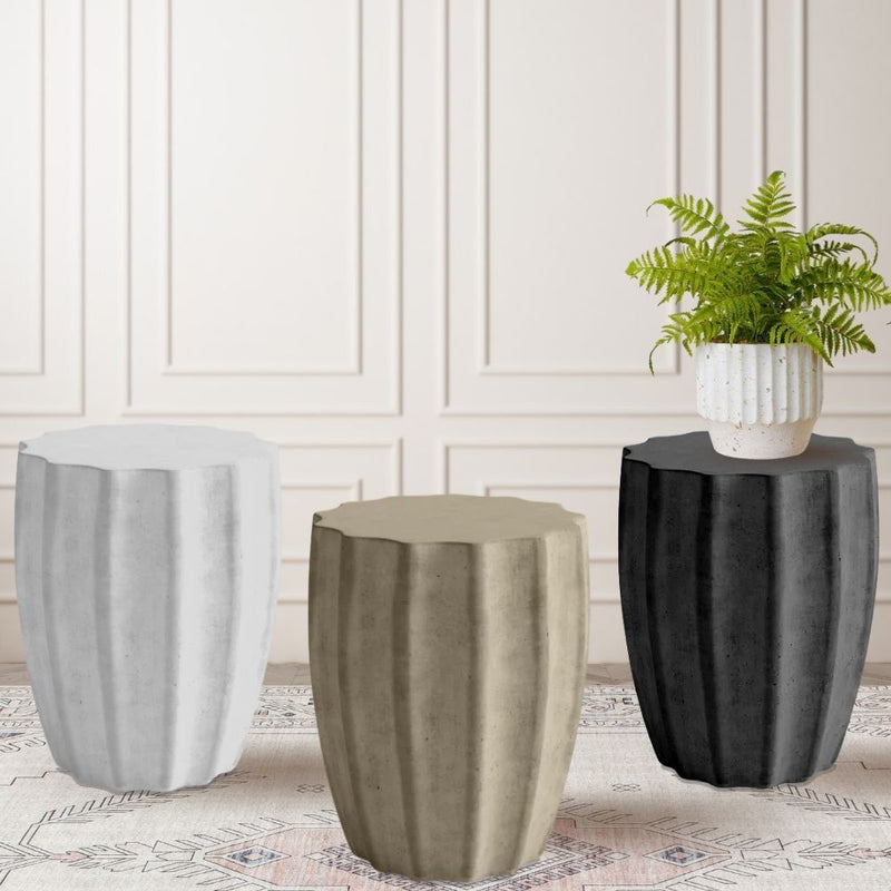 SHIRA WHITE PLANTER WITH HAIRPIN LEGS (61CM)