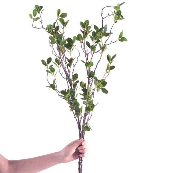 Riviera ARTIFICIAL BANYAN LEAF BRANCH 44'' x 12'' (Set of Two)