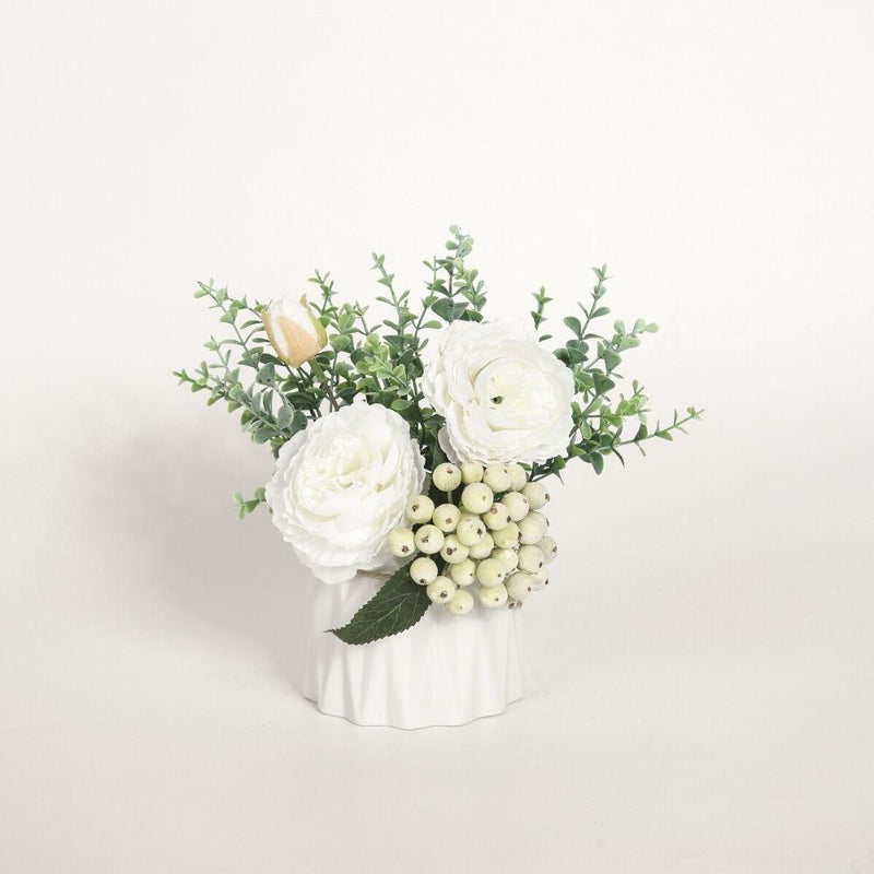 Aviva Artificial Potted Flower Bouquet 8''x8''
