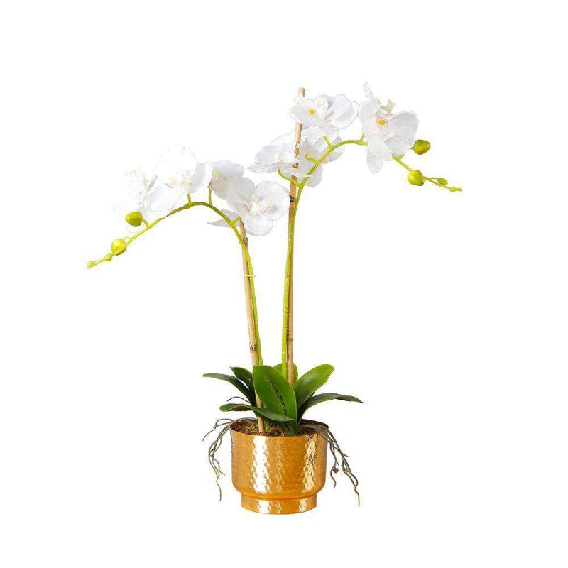 GLADIOLA FAUX POTTED ORCHID FLORAL ARRANGEMENT 24 INCHES Tabletop Plant ArtiPlanto