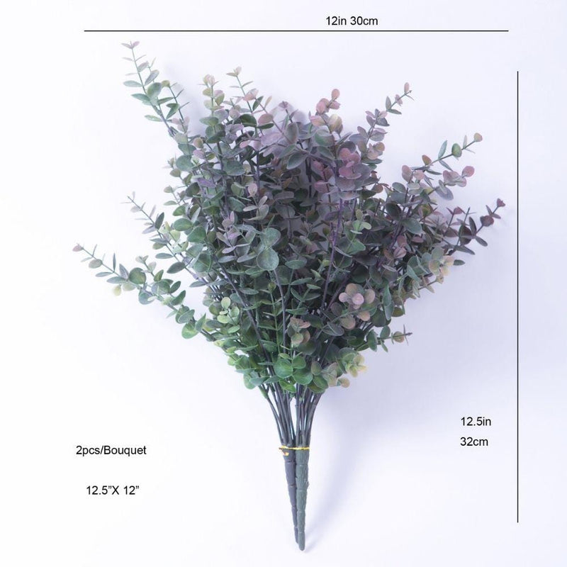 Merida Artificial Purple & Green Eucalyptus Bouquet 12.5'' x 12' (Set of 2)