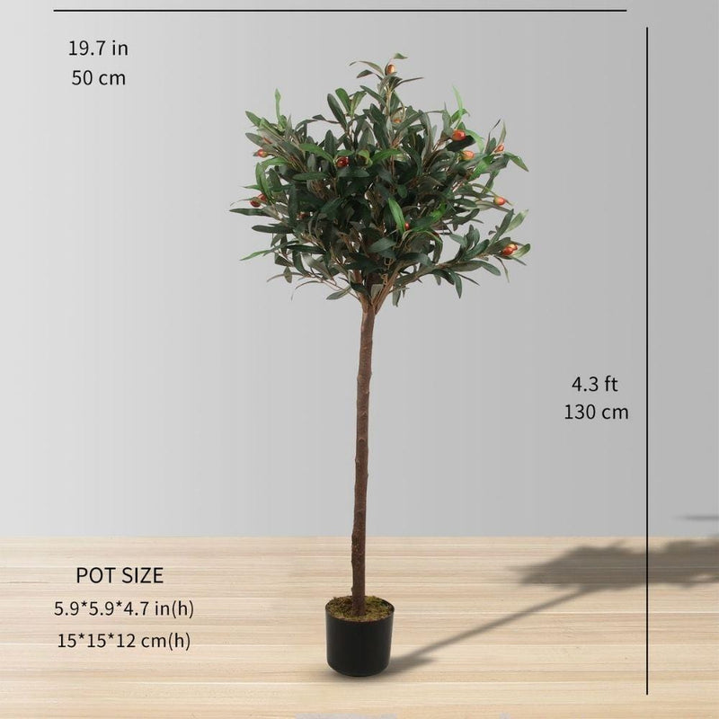 Obee Artificial Olive Tree Potted Plant 4.3'
