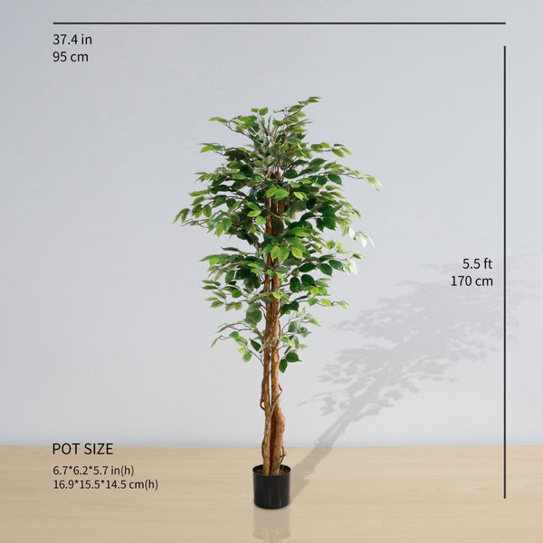 Neiva Artificial Ficus Tree Potted Plant (Multiple Sizes)