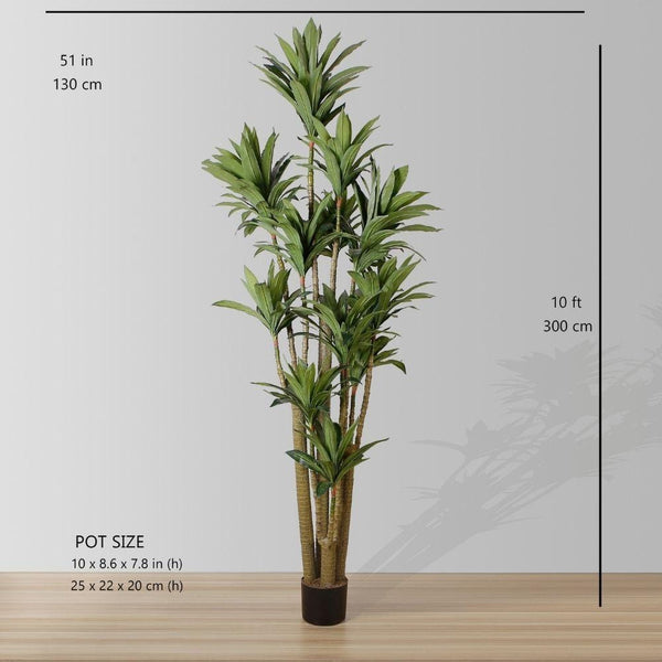 Helena Artificial draecena tree potted plant 10'