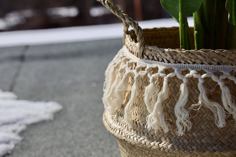 POKHA - Seagrass Basket With Tassel