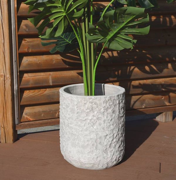 VELA CEMENT ROCK PLANTER 14''