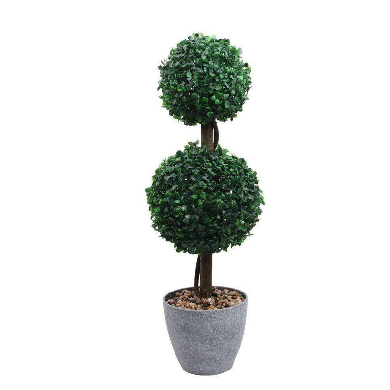 BRISTOL Faux Potted Boxwood Topiary Plant 26'' ArtiPlanto
