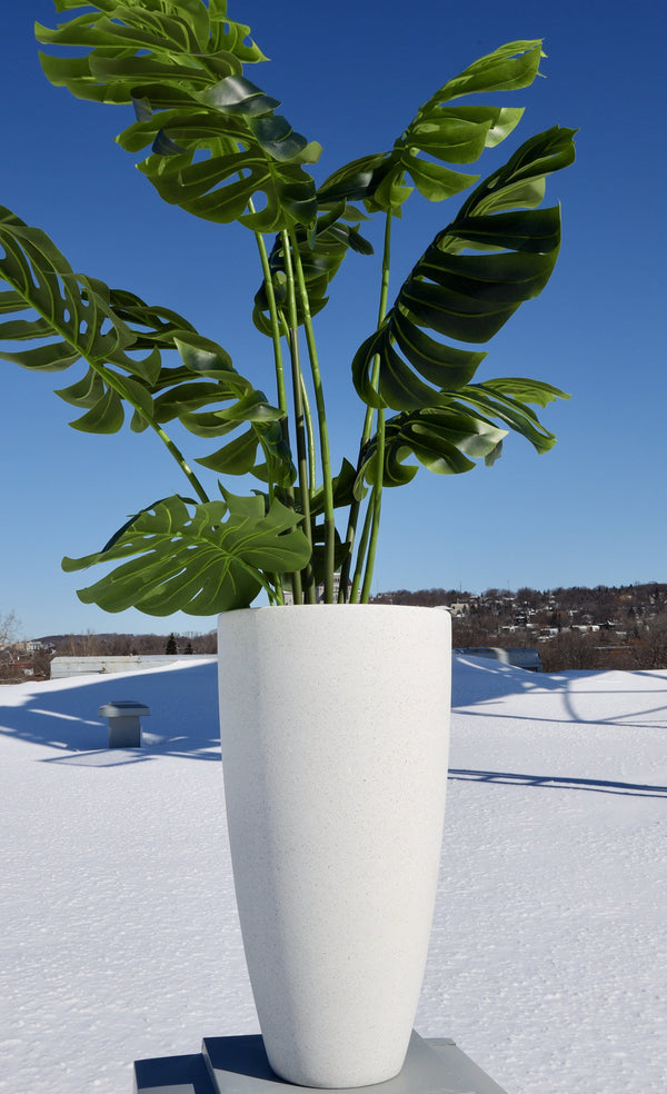 Lazio White Cement Planter (Multiple Sizes)