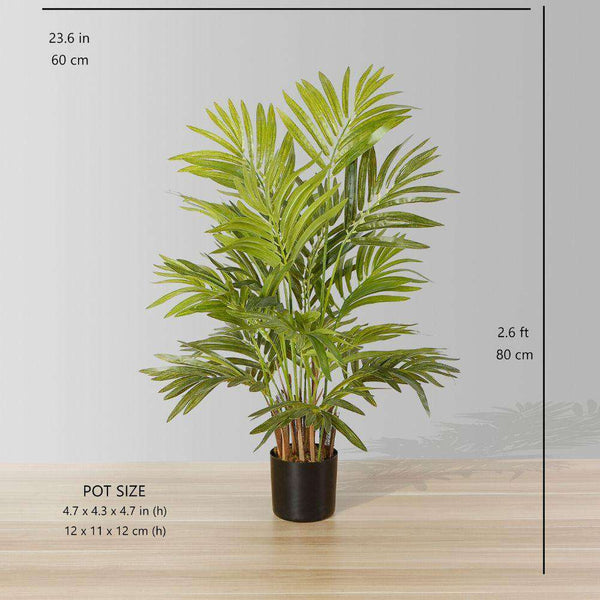 CRUZ ARTIFICIAL ARECA PALM TREE POTTED PLANT 2.6' ArtiPlanto