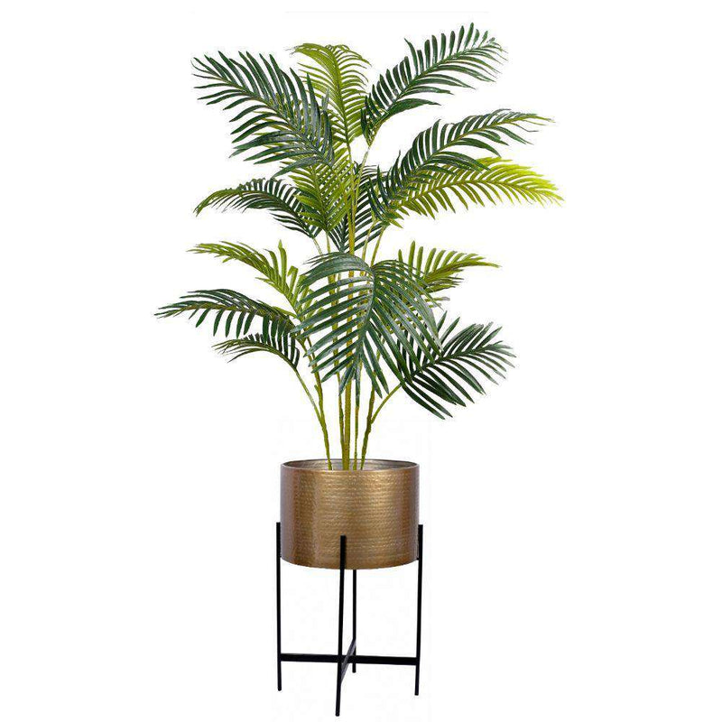 Chava - Brass Mid-Century Planter With Black Stand (Multiple Sizes) ArtiPlanto