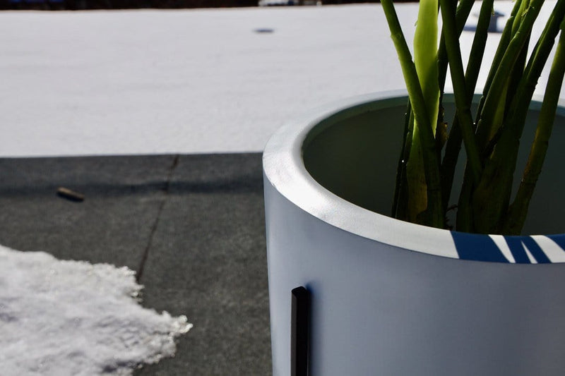 Cira - White Mid-Century Planter With Black Metal Stand (Multiple Sizes)