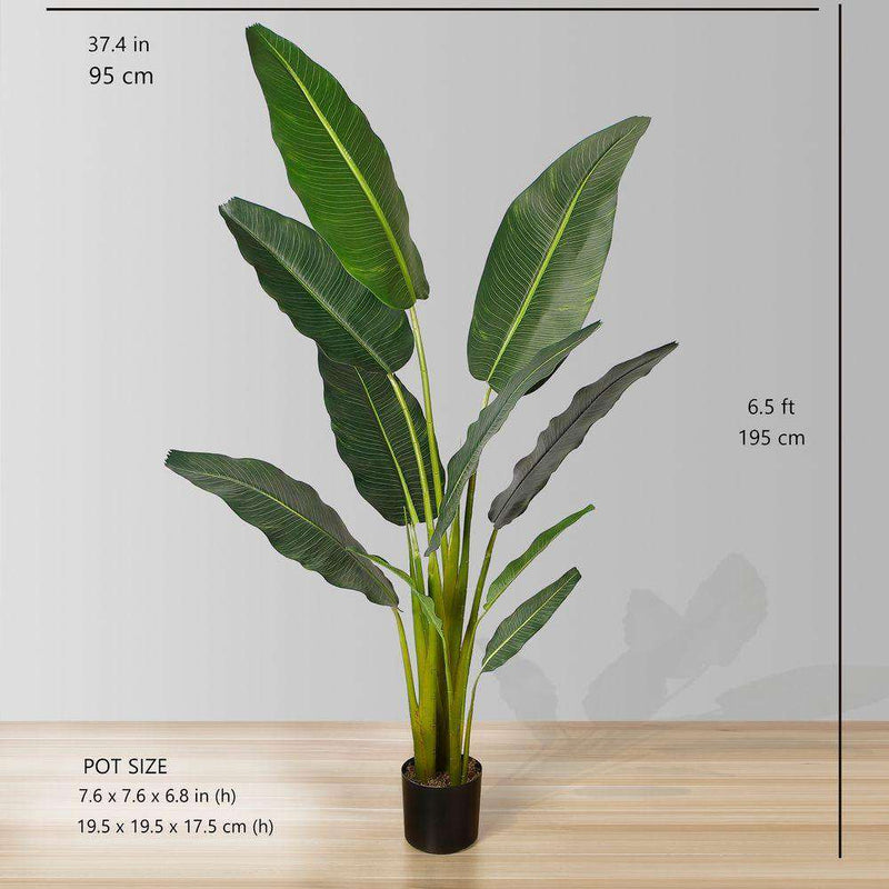 DANI Artificial Travellers Palm Tree Potted Plant (Multiple Sizes) ArtiPlanto