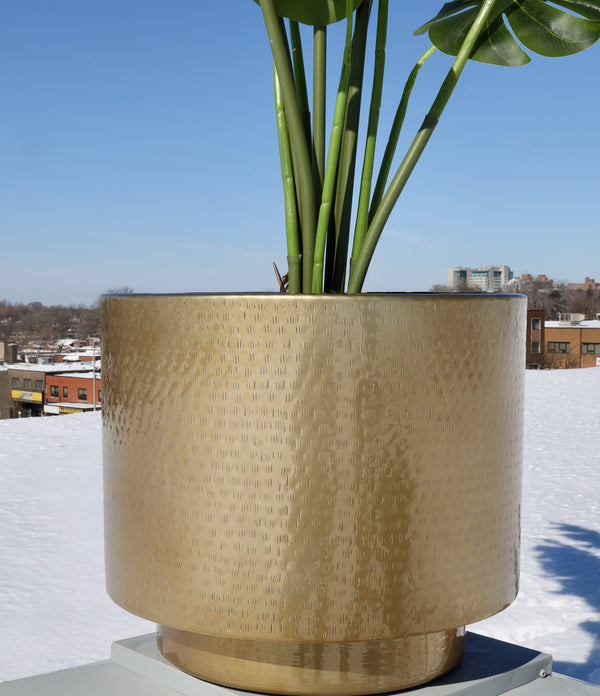 Sagi - Brass Mid-Century Floor Planter (Multiple Sizes)