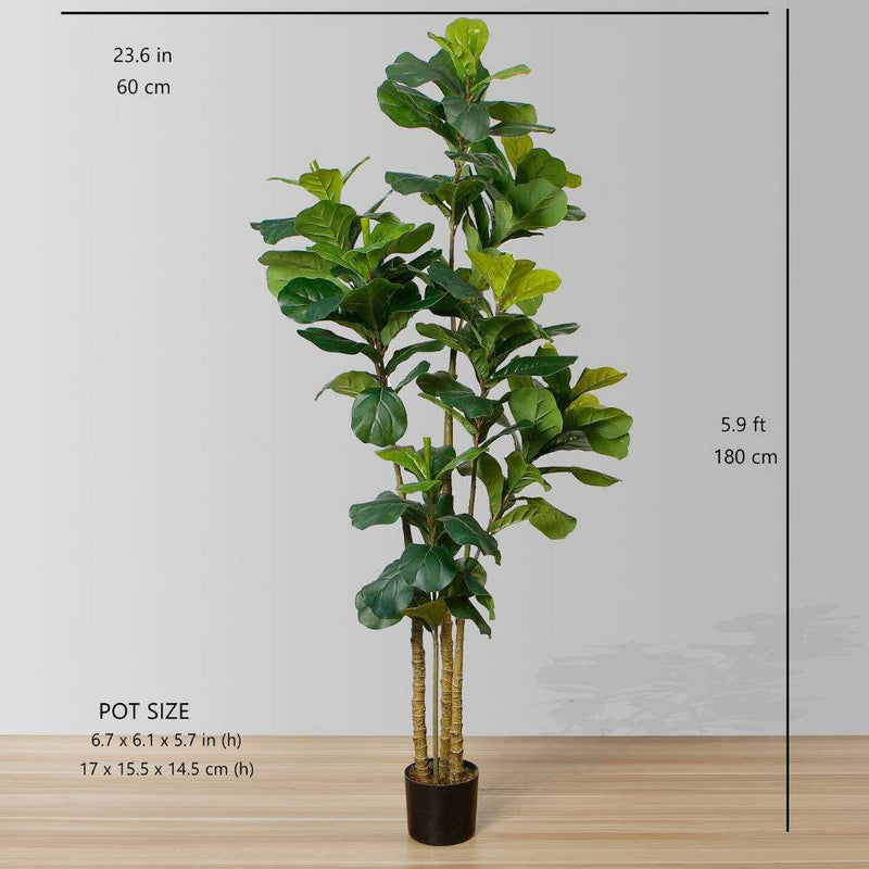 FAFA Artificial Fiddle Leaf Potted Plant (Multiple Sizes) ArtiPlanto